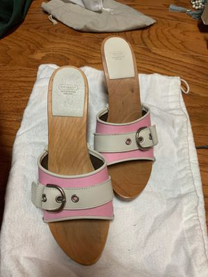 Coach heeled sandals 8 for Sale in New Orleans, LA