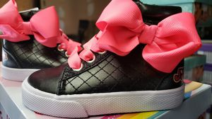 New Girls Size 5 Toddler Jojo Pink Bow/Blk Sneakers for Sale in Bay Shore, NY