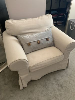 Ikea chair with beige cover for Sale in Lorton, VA