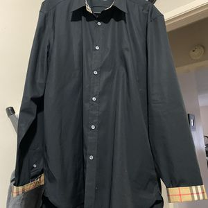 BURBERRY WILLIAM BLACK LONG SLEEVE SHIRT .SIZE XXXL SLIM FIT .AUTHENTIC for Sale in Garden Grove, CA