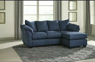 ☘☘Darcy Blue Sofa Chaise 💙no credit CHECK 🥰🥰🌸 for Sale in Houston,  TX