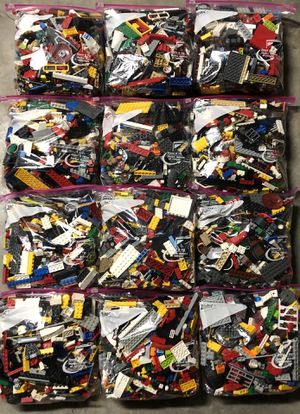 Various Assortment! LEGO 2lbs per bag x 12 bags = 24 pounds for $8 per pound! ... pick how many pounds you want up to 18lbs as max shipping weight! for Sale in Pembroke Pines, FL