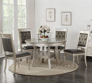 5PC Silver Dining Table Set for Sale in Hialeah, FL