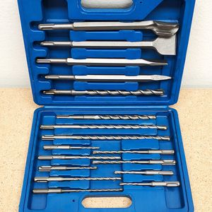 Brand New $25 Tool Set 17pcs SDS Plus Rotary Hammer Drill Bits Chisel Concrete Masonry Hole for Sale in Pico Rivera, CA