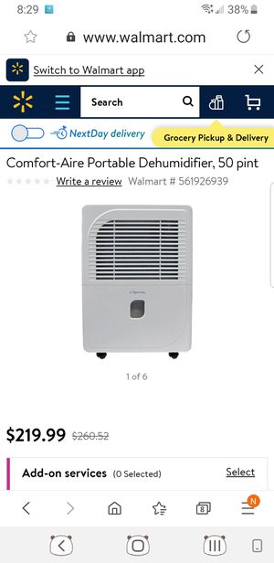 Comfort Aire Dehumidifier for Sale in Los Angeles, CA