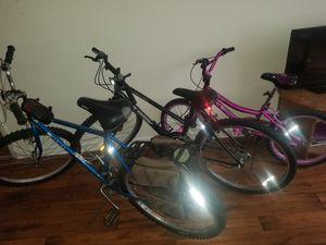 2 girls bikes 20 inch and 24 1 26 men bike for Sale in Jonesboro, GA