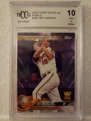 2018 Topps TREY MANCINI TOYS R US PURPLE for Sale in Tupelo, MS