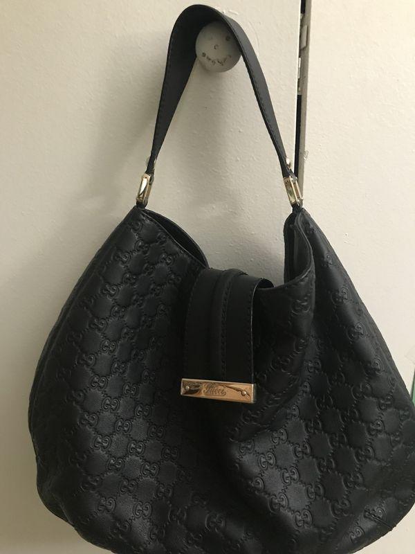 Gucci Guccissima Black Hobo Bag