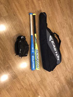 Softball Gear - glove, bag, bats, batting helmet for Sale in Redmond, WA