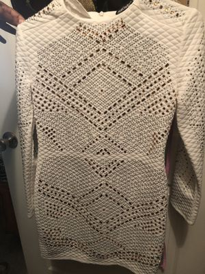 White gold and silver sequenced dress for Sale in Austin, TX