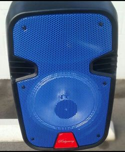 """New 8"""" Bluetooth speakers DJ karaoke style Comes with microphone and remote brand new in box FM radio thumb drive player for Sale in Delano,  CA"""