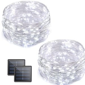 Solar Outdoor Copper Wire Starry String lights-new! (Set of 2) for Sale in Highland, CA