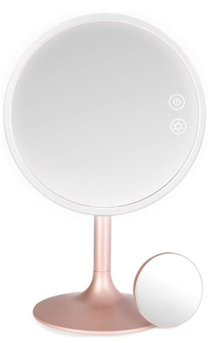 Lighted Makeup Mirror, 3 Color Dimmable Vanity Mirror with 1X / 5X Magnification, Rechargeable Led Cosmetics Mirror Portable with Touch Screen, 120 D for Sale in Barre, VT