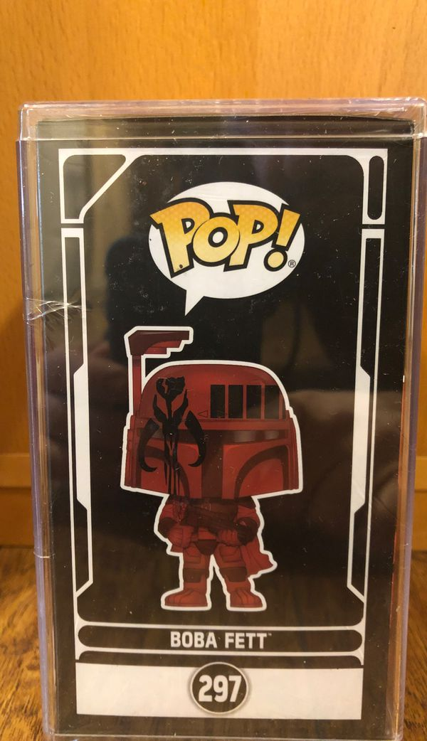 Funko Pop! Red Boba Fett Futura Star Wars Disney with Limited Edition Wondercon 2020 Target in Hard Stack Case