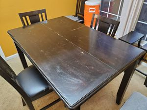 Counter height table with chairs and stools for Sale in Cary, NC