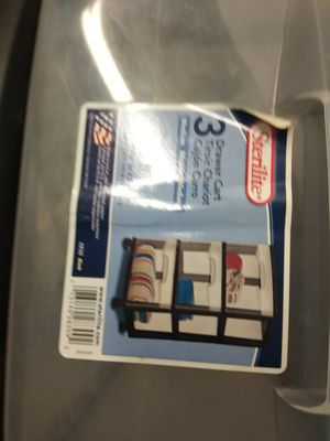 Plastic storage containers sterile 3-door drawer for Sale in Takoma Park, MD