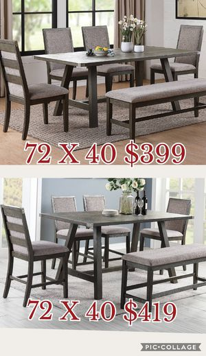 6 pcs dining table set / 6pcs Counter Height dining table set / table, chairs, Bench for Sale in Los Angeles, CA