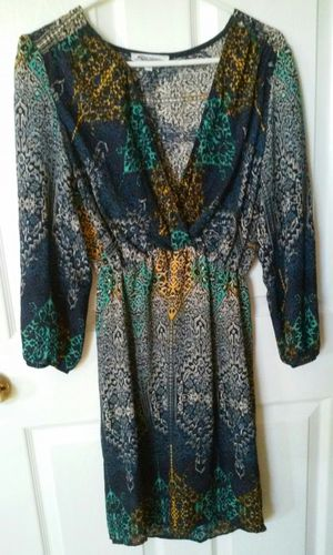Dress, navy, turquoise, gold for Sale in Castro Valley, CA