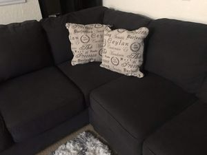Sectional dark grey for Sale in Port St. Lucie, FL