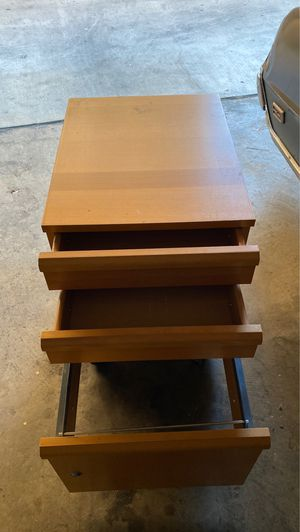 Wooden file cabinet for Sale in Los Angeles, CA