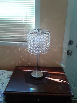 NEW table lamp with simulated crystals for Sale in Hollywood,  FL
