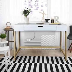 American Trails White & Gold Smart Desk for Sale in Wayne,  NJ