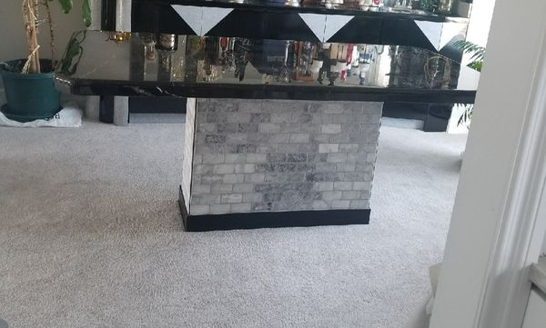 8 chair and marble dining table