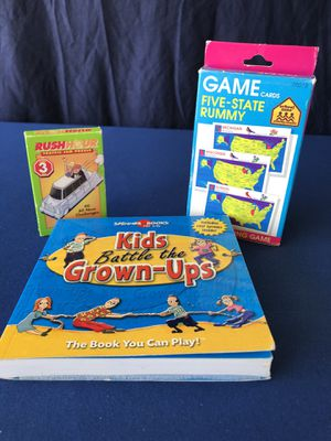 """Games for Kids and Adults and """"RUSH HOUR"""" Traffic Jan Puzzle!Great for """"Stay at Home"""" Time! for Sale in Colton, CA"""