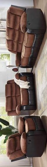 SPECIAL ✅ /walter-brown-3-piece-reclining-living-room-set. Sofa and loveseat and chair for Sale in Houston, TX