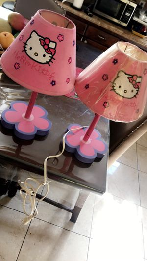 2 hello kitty table lamps for Sale in Huntington Park, CA