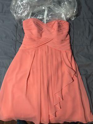 Peach David's Bridal Dress for Sale in Peoria, IL