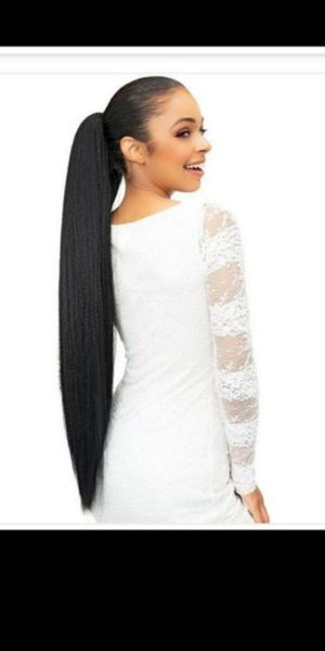 Hair Extension Drawstring with Bundle Wrap ponytail Extra Long black color new / extra larga nueva for Sale in Fullerton, CA