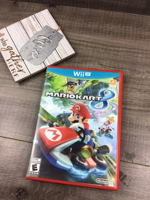 Nintendo Wii U Mario kart 8 game :::::: $36+$3 :29 shipping don't lowball for Sale in Sacramento, CA