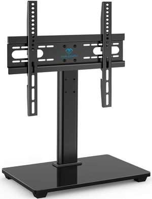 PERLESMITH Universal TV Stand - Table Top TV Stand for 37-55 inch LCD LED TVs - Height Adjustable TV Base Stand with Tempered Glass Base & Wire Manag for Sale in Chino, CA