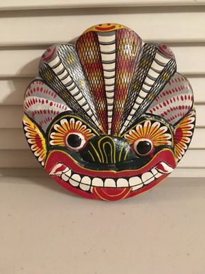 Small Mexican Folk Art Hand Carved and Painted Mask Wall Hanging for Sale in Sun City, AZ