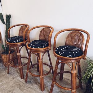 Set of 3 Refurbished Bamboo Bar Stools for Sale in National City, CA