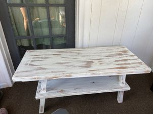 Heavily distressed white coffee table for Sale in Cashmere, WA