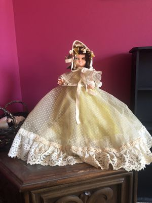 Large vintage girl doll in dress antique for Sale in Cherry Hill, NJ
