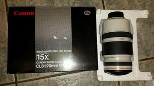 Canon Zoom Lens CL 8-120mm Interchangeable Video-$70.. firm on price for Sale in Rosemead, CA