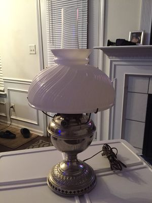 Electrified Antique oil lamp. for Sale in Concord, NC
