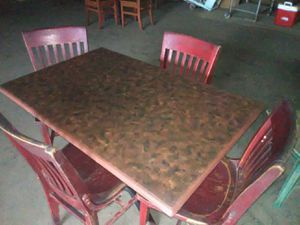 Table & 4 chair's from Chevy's Restaurant for Sale in Modesto, CA