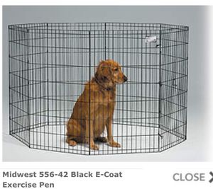 Black Exercise Pen / Dog Crate for Sale in Clearwater, FL