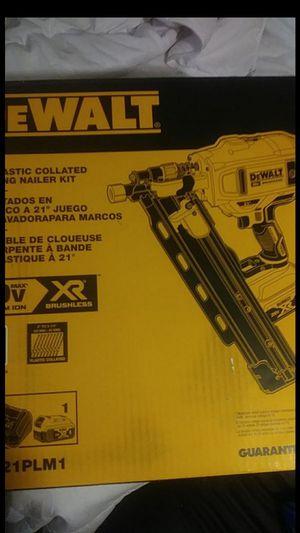 DeWalt 20 v max 21° Fraiming Nailer (Brand New). for Sale in Vancouver, WA
