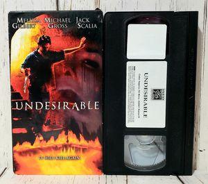 Undesirable -aka- With a Vengeance VHS 2001 Melissa Gilbert Michael Gross RARE for Sale in Harrisonburg, VA