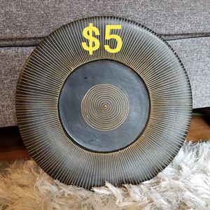 Decorative Gold & Black Plate for Sale in Everett, WA