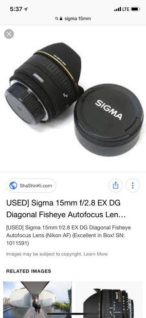 Sigma 15 m f2.8 canon for Sale in Boston, MA