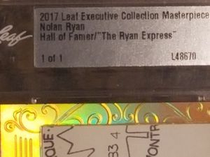 1 of 1 Masterpiece from Leaf Nolan Ryan sharp and clean auto signed and encased for preservation DRV investment gold trout psa sgc bgs bvg cross for Sale in Anaheim, CA