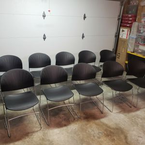 Ten Plastic Stackable Office Chairs for Sale in Tacoma, WA