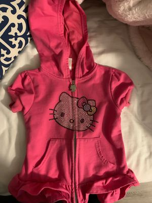 Hello kitty toddler girls ruffle sweater for Sale in Pleasant Hill, CA