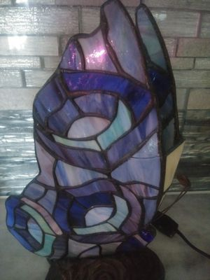 "Vintage 11"" stained glass butterfly lamp for Sale in Apopka, FL"
